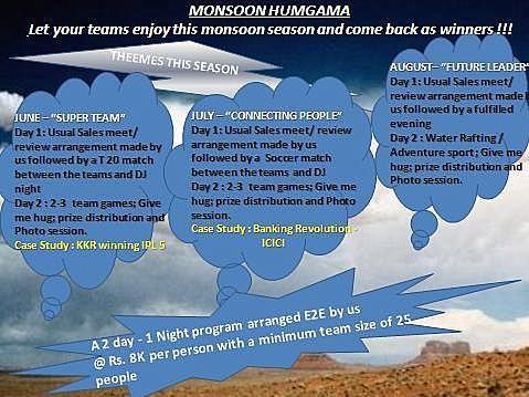 Monsoon Calendar - Team Building