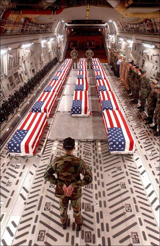 "This is what is known as an ""Angel Flight"". And this is actually Operation Red Wings Angel Flight."