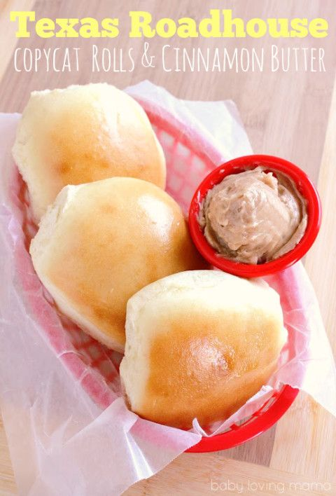 Texas Roadhouse Dinner Rolls with Cinnamon Butter Copycat Recipe