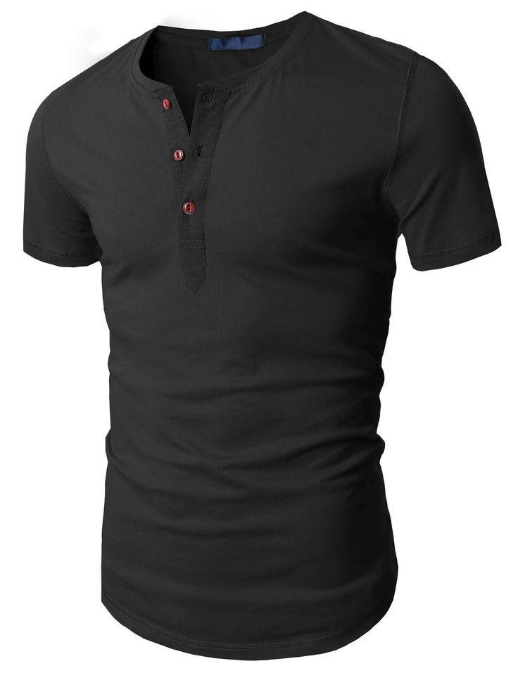 Doublju Mens Fashion Henley Short Sleeve Slim Fit Shirts at Amazon Men's Clothing store: - clothes online shopping, womens online clothing stores, ccc clothing *ad