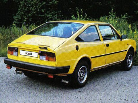Skoda Rapid 136 Coupe, Rear-engine, rear-wheel-drive layout,  same as Porsche