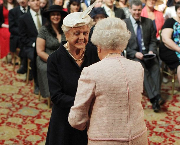 Angela Lansbury Apr 2014....given the title: Dame, by Queen Elizabeth.