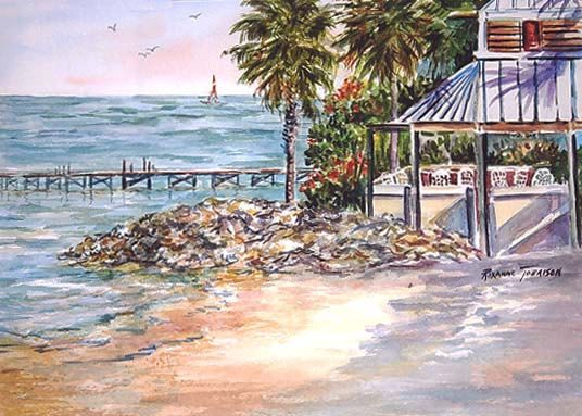 Little Harbor Resort ACEO Ruskin  Florida by watercolorsNmore, $4.50