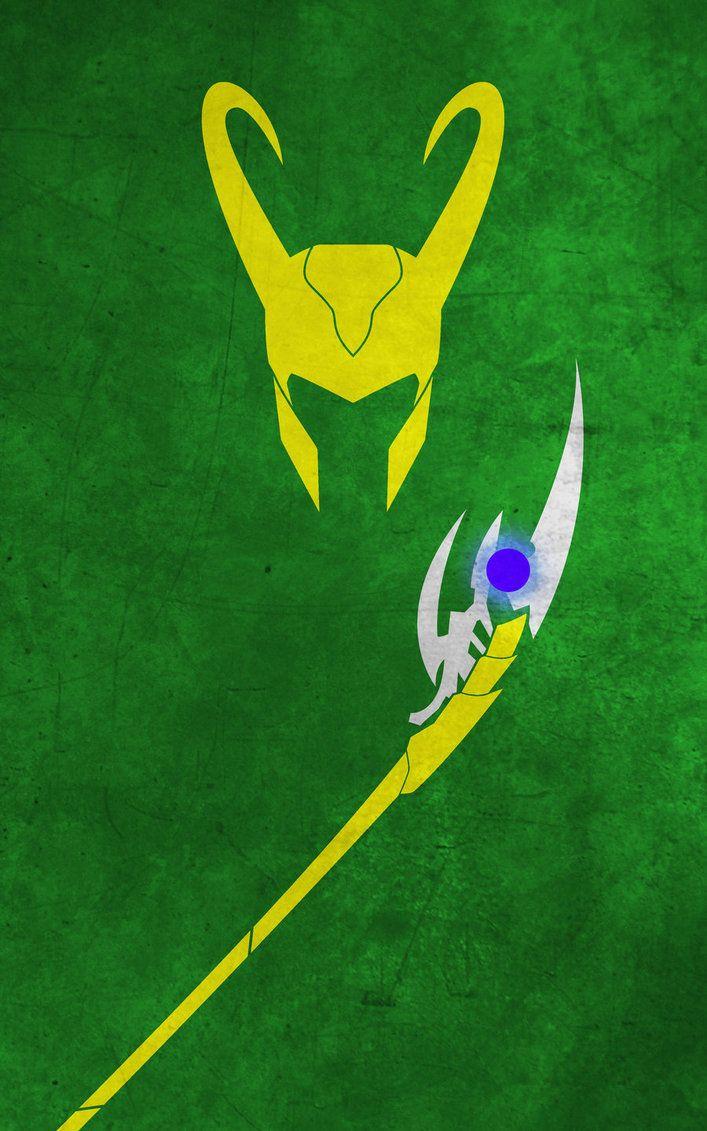 Superhero Minimalist Posters - Loki by thelincdesign on deviantART