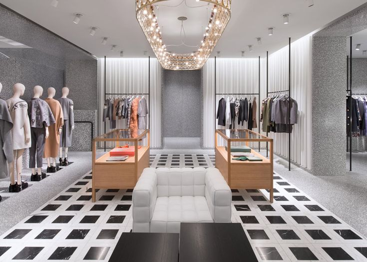 David chipperfield 39 s valentino flagship store opens in new for Retail store interior design