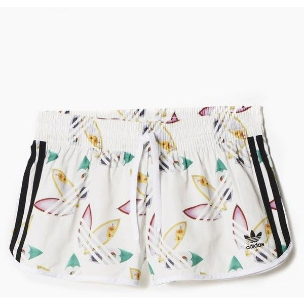 x Pharrell Williams Surf Shorts (475 MXN) ❤ liked on Polyvore featuring shorts and white shorts