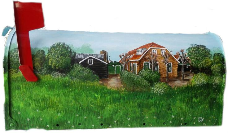 us mailbox painted