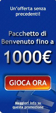 Un ricchissimo e nuovo  pacchetto di benvenuto vi aspetta a #allslotscasino per tanto divertimento in più: fino a 1000 euro!
