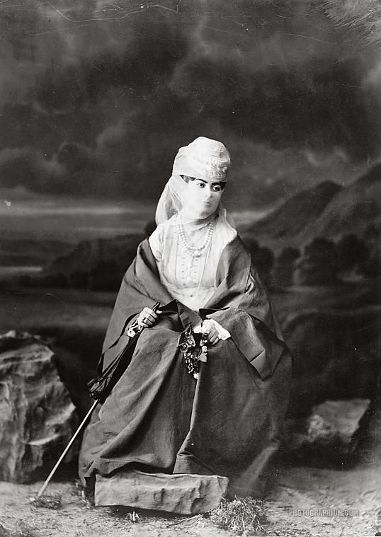 sporadicq:  Photograph of a Turkish woman in traditional Ottoman dress. Istanbul, Turkey. 1869. (Source)