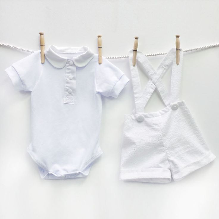 Baby Boy Christening Outfit | White Seersucker Boys Baptism Set | Peter Pan Collar Bodysuit Shortalls Overallsalls Cotton Blessing Suit by mabelretro on Etsy https://www.etsy.com/listing/211396490/baby-boy-christening-outfit-white