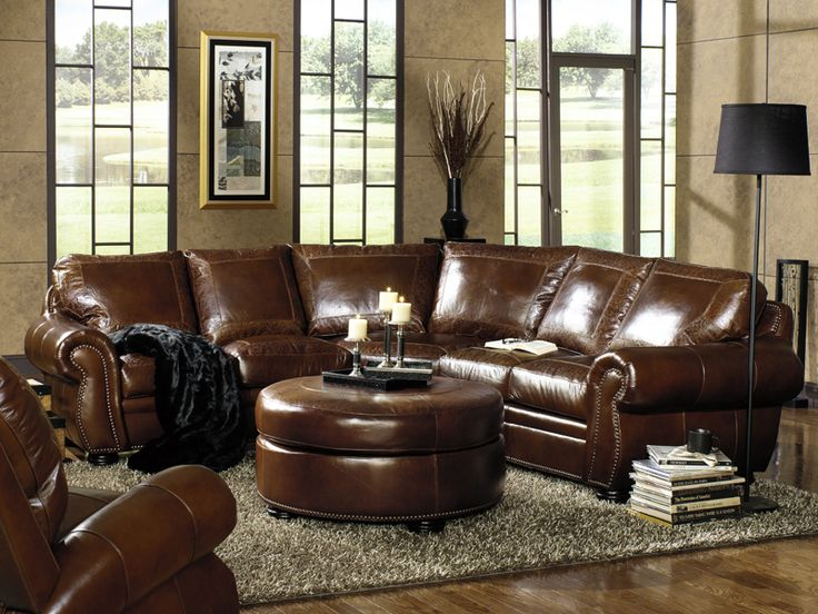 Living Room Furniture Leather leather couch in living room - creditrestore