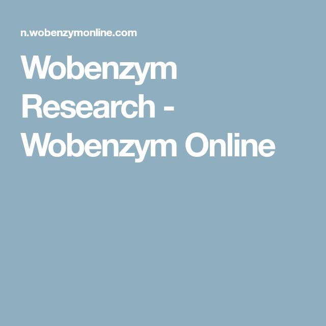Wobenzym Research - Wobenzym Online