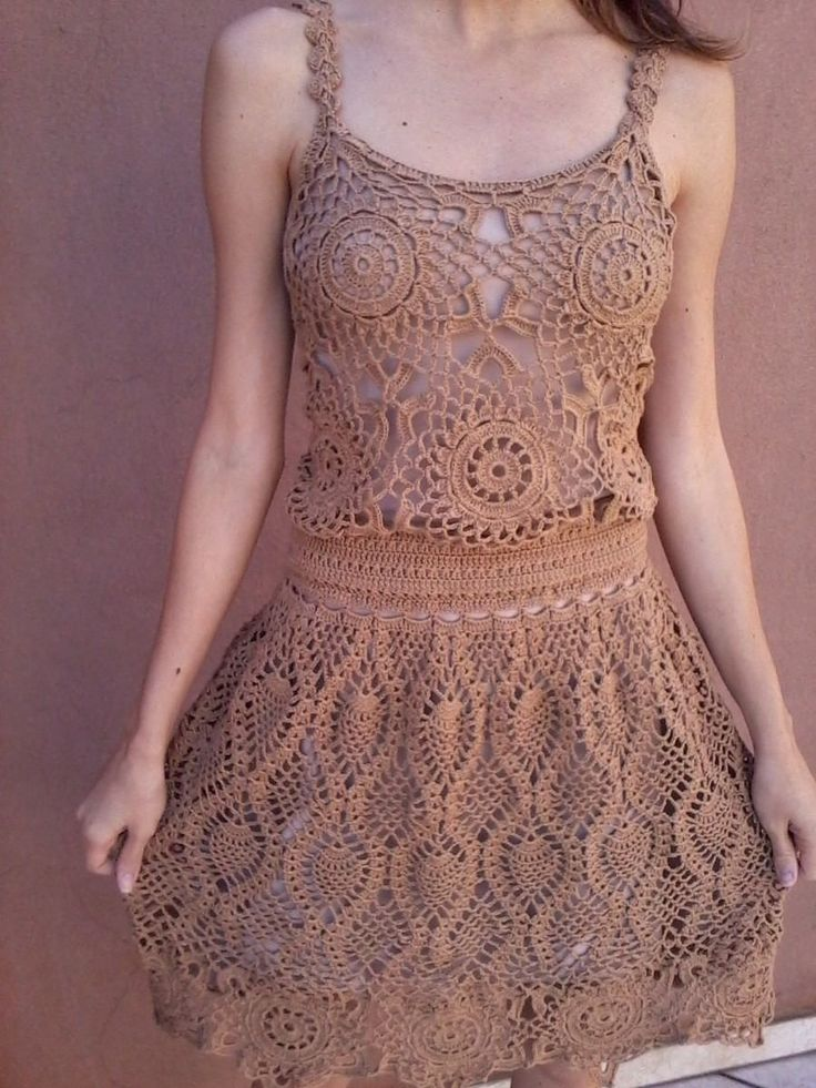 crocheted dress - would be better in black