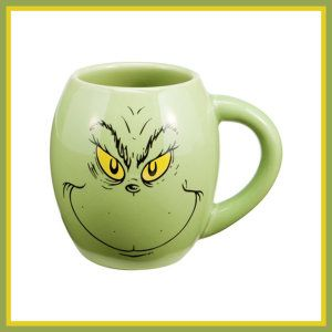 Grinch, Oval Ceramic Mug Every year it gets harder to find Grinch items. Grab this one while you can. Enjoy a hot cuppa on Christmas eve while watching The Grinch. All Grinch fans, take note, this mug is killin' it. Not many left. http://theceramicchefknives.com/ceramic-mugs-variety/
