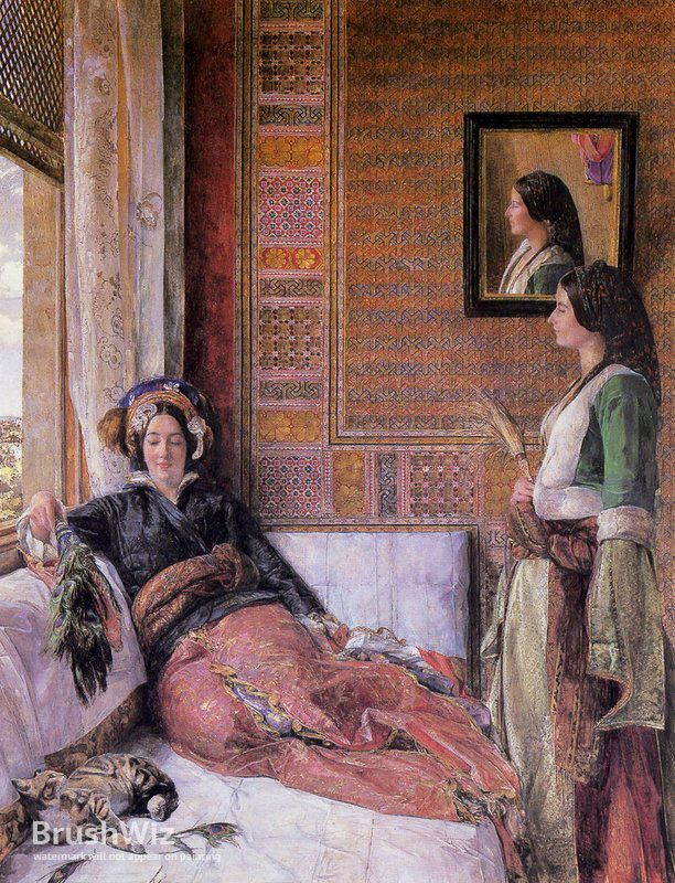 Harem Life by John Frederick Lewis - Oil Painting Reproduction - BrushWiz.com