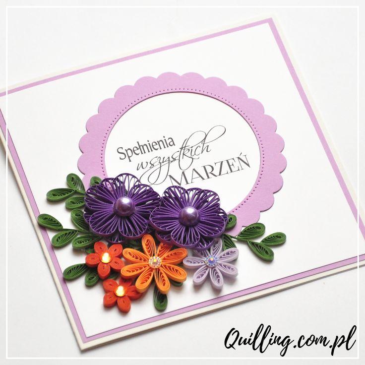 quilling, husking, greeting card, birthday, handmade, paperart, craft, autumn, quilling.com.pl