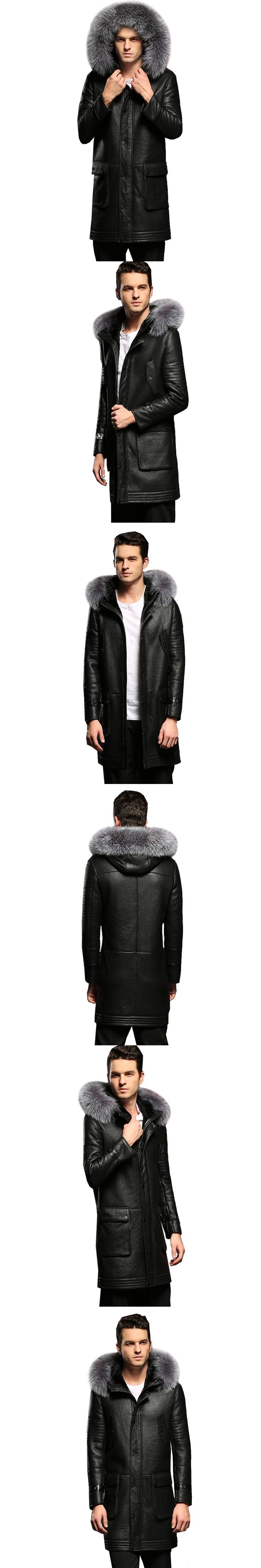 100% Guaranteed Real Sheepskin Fur Coat Genuine Full Pelt Shearling Male Formal Winter Clothing Sheepskin Jacket Men Fur Outwear