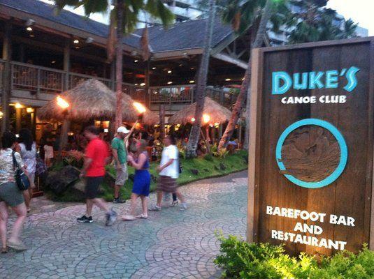 Duke's Kauai Barefoot Bar and Restaurant...Happy Hour for us...Babysitting for Grandma