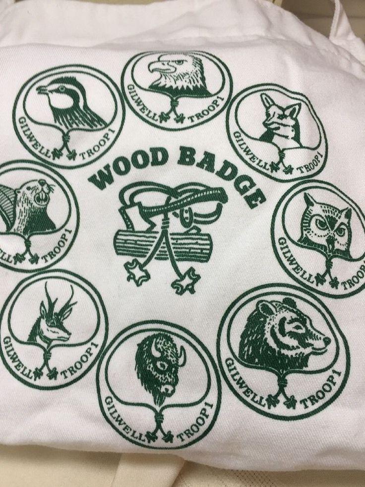 Boy Scout Wood Badge Apron White with Green Logo Georgia Textile