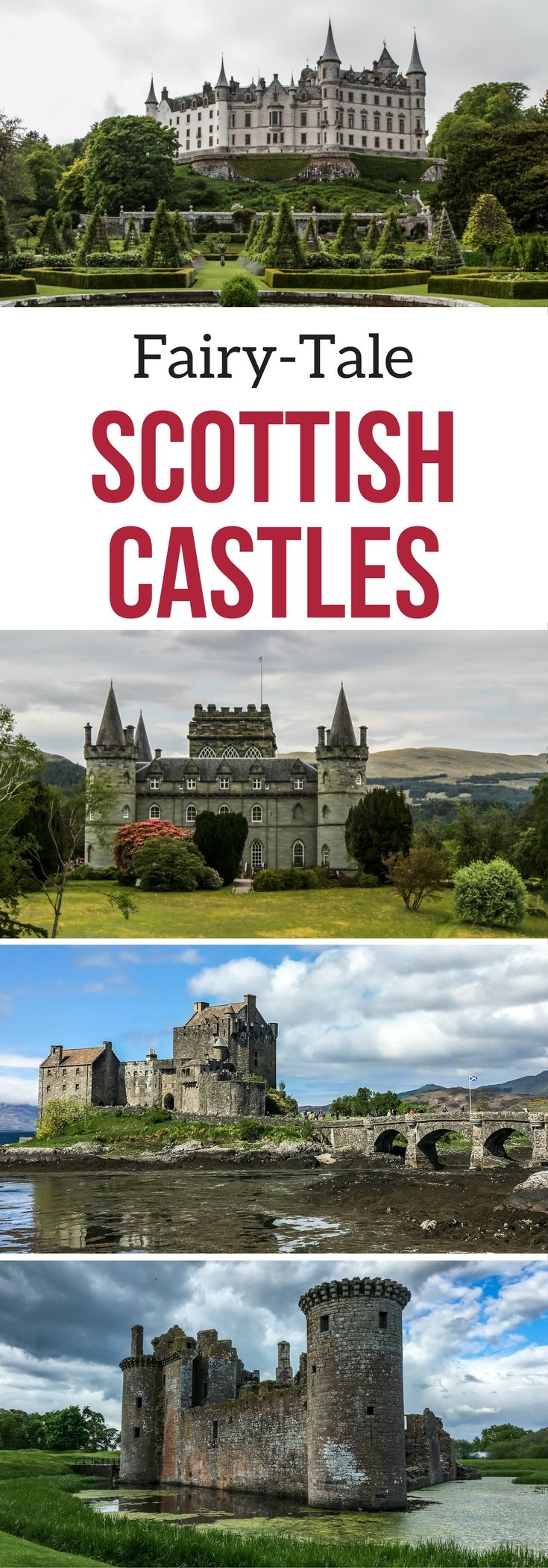 Scotland Castles ! Some of them really look like they are just out of a fairy-ta… – Noora