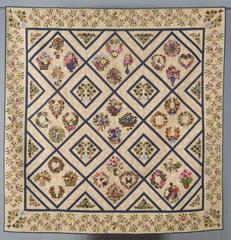 """The Little Brown Bird"" by Barbara Lantz. 1st Place, Applique.  2009 quilt show, West Virginia."