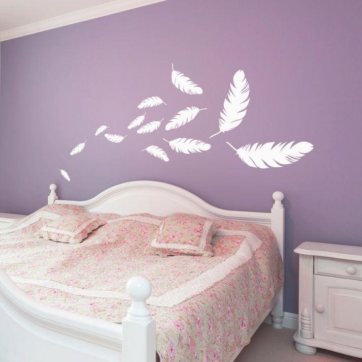 Stickers envol e de plumes plumes chambres et chambres parentales - Stickers chambre parentale ...