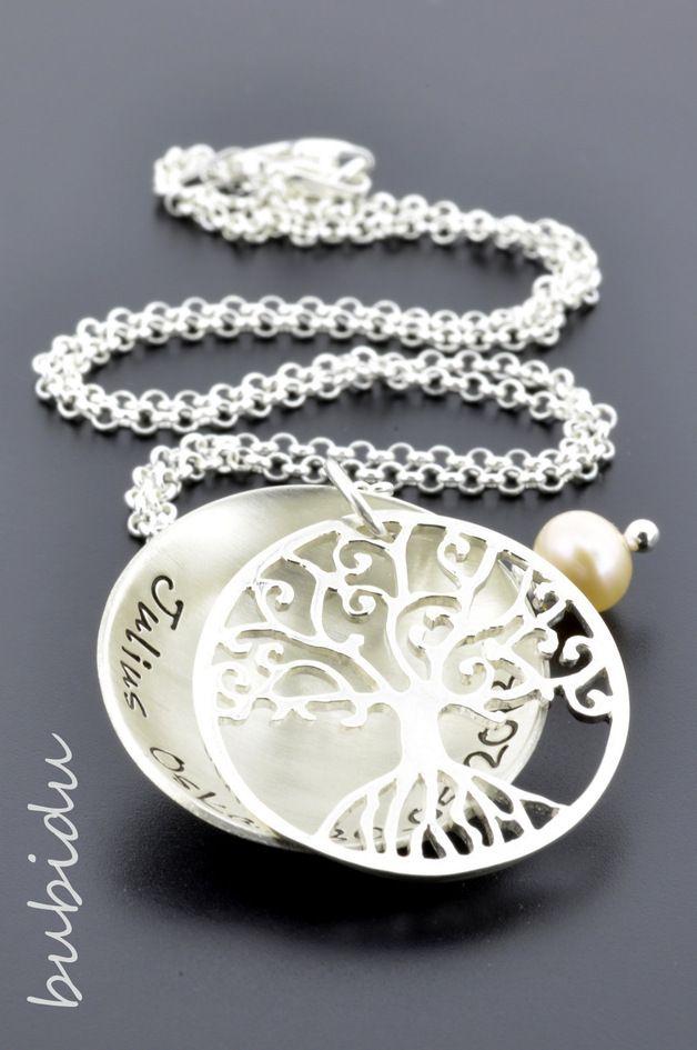 SCHMUCK Lebensbaum Kette 925 Silber