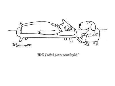 This is why we have dogs. :-) and why I believe in animal assisted therapy :)