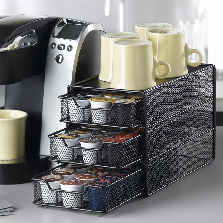 Nifty Home Products 54 Coffee Pod Drawer In Black Satin