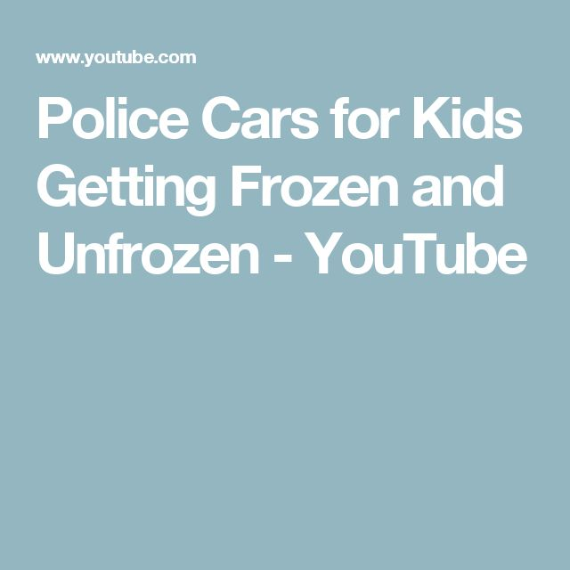 Police Cars for Kids Getting Frozen and Unfrozen - YouTube