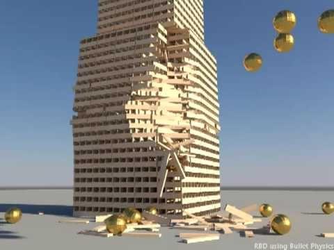 Over 5000 KEVA planks building - Bullet Physics - YouTube