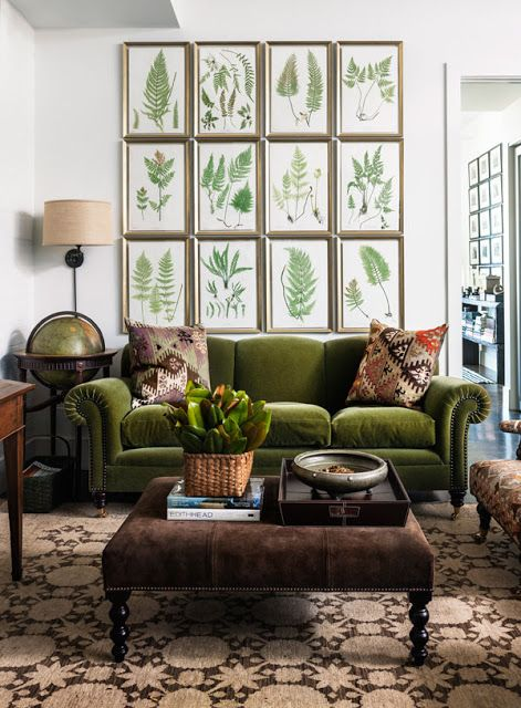 Habitually Chic®: Chic in Tribeca  I really think green velvet is calling me!