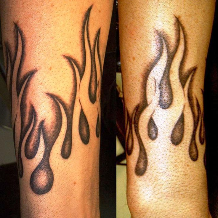Black and White Flame Tattoos