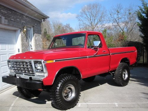 f100 ford truck 4x4 | Ford, Red, automatic, 4x4, single cab, 1979, F100, F150, Ford, Truck ...