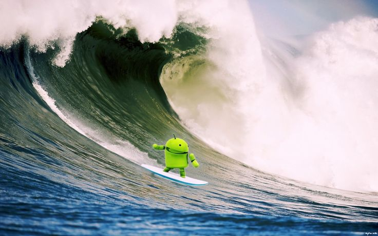 android surfing wallpaper
