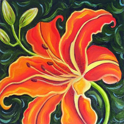 georgia o keeffe abstract flower painting