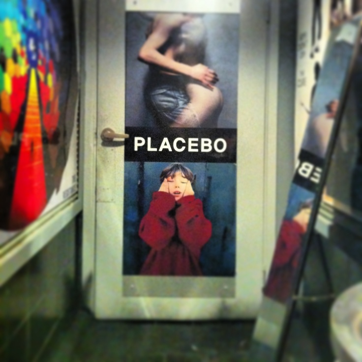 A Placebo poster at The Cure bar in Hongdae, South Korea.