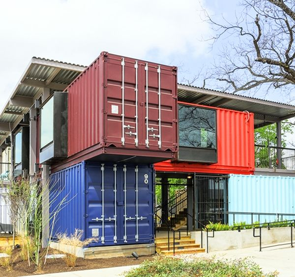 A Trendy Bar Built From Shipping Containers - DesignTAXI.com