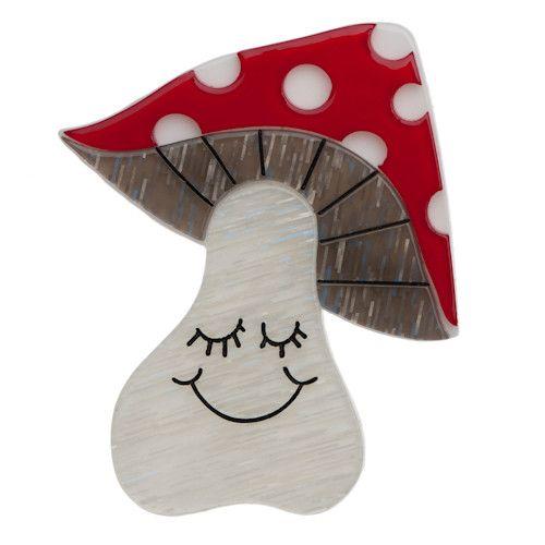 Erstwilder - Mrs Mushroom Brooch - 1