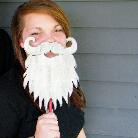 Santa Beard Wooden  Christmas Decor Winter by SlippinSouthern, $33.00