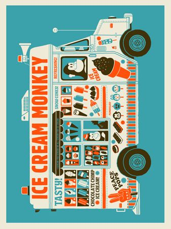 ICE CREAM TRUCK | Limited Edition Art Posters Archives | Page 2 of 9 | Methane Studios