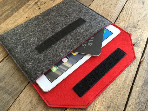 Mini étui iPad / iPad Mini manche / iPad Mini couverture - divers extérieure et intérieure couleurs - 100 % feutre de laine