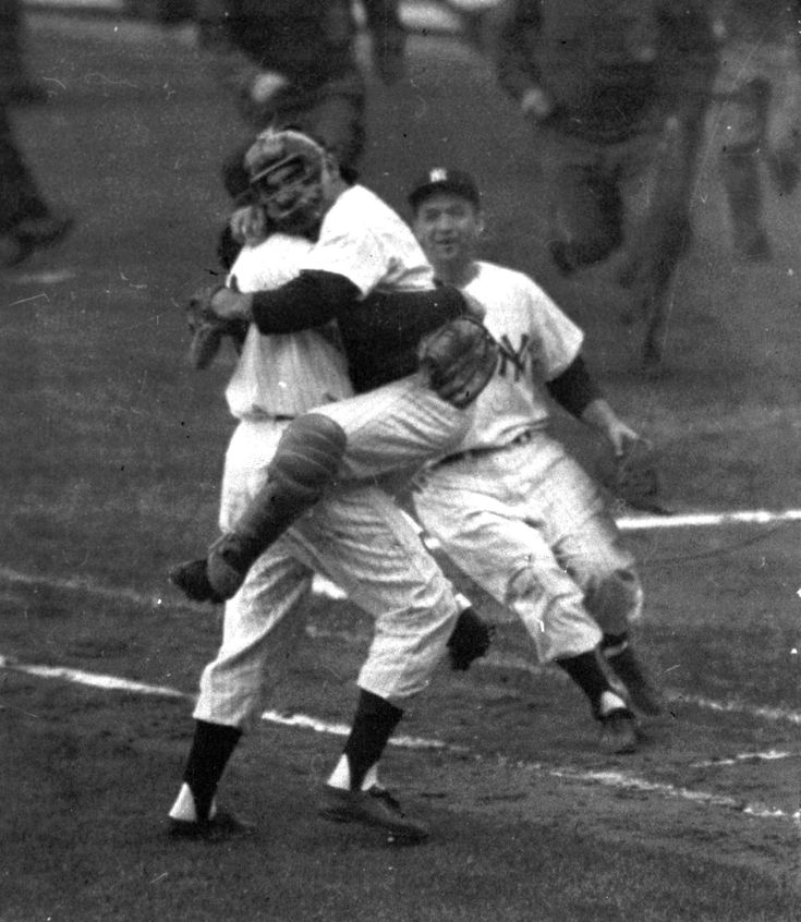 Flashback Friday to the 1956 World Series, Yogi and Don Larsen after he threw a perfect game...Love digging out the old photos.