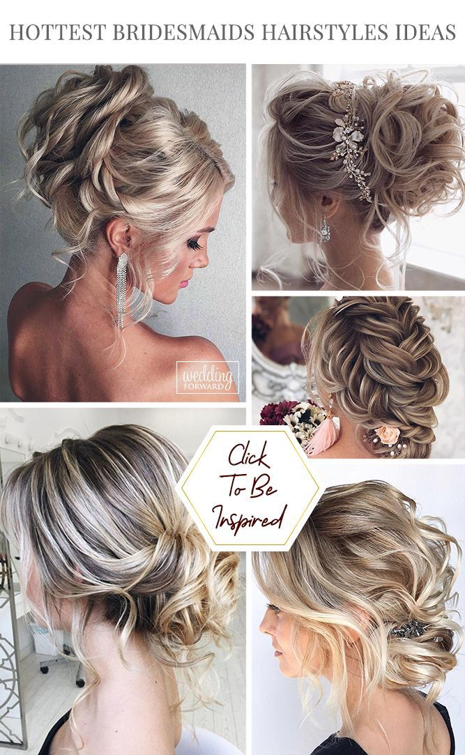 48 Perfect Bridesmaid Hairstyles Ideas Wedding Forward Hair Styles Wedding Hairstyles Bridesmaid Bridesmaid Hair