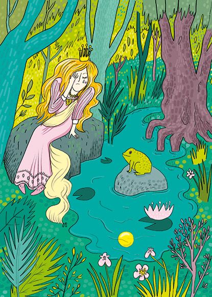 Emmi Jormalainen fairytale illustration the frog prince