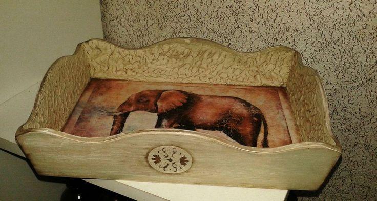 """""""Африканский слон"""" поднос в стиле этно, с имитацией камня - Ярмарка Мастеров - ручная работа, handmade"""