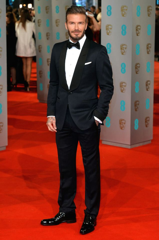 David Beckham Wears Tom Ford Tuxedo at 2015 BAFTAs | UpscaleHype