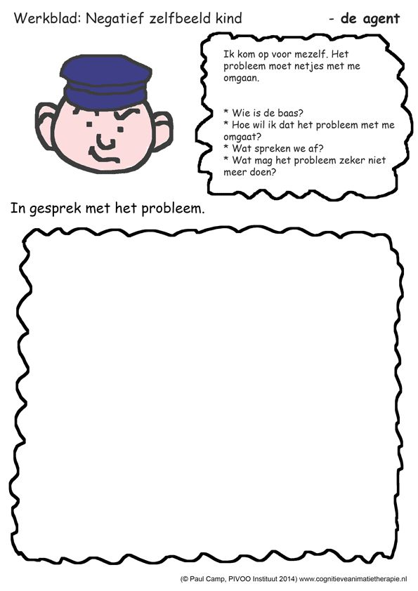 Negatief zelfbeeld kind. Een werkblad dat kinderen helpt om beter grenzen te stellen aan negatieve gedachten over zichzelf. Download werkblad negatief zelfbeeld kind hier.