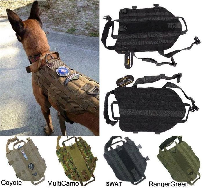 Army Tactical Dog Vests Hunting Dog Training Molle Vest Outdoor