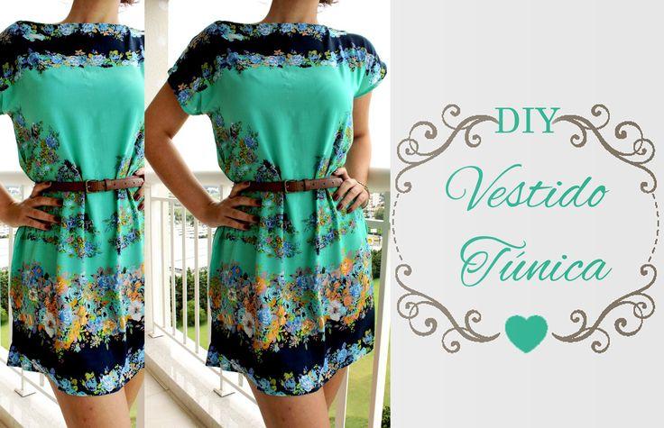 DIY Vestido Túnica - Muito Fácil                                                                                                                                                                                 Mais